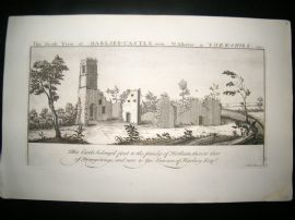 Buck C1820 Folio Architecture Print. Harlsey Castle, North Allerton, Yorkshire